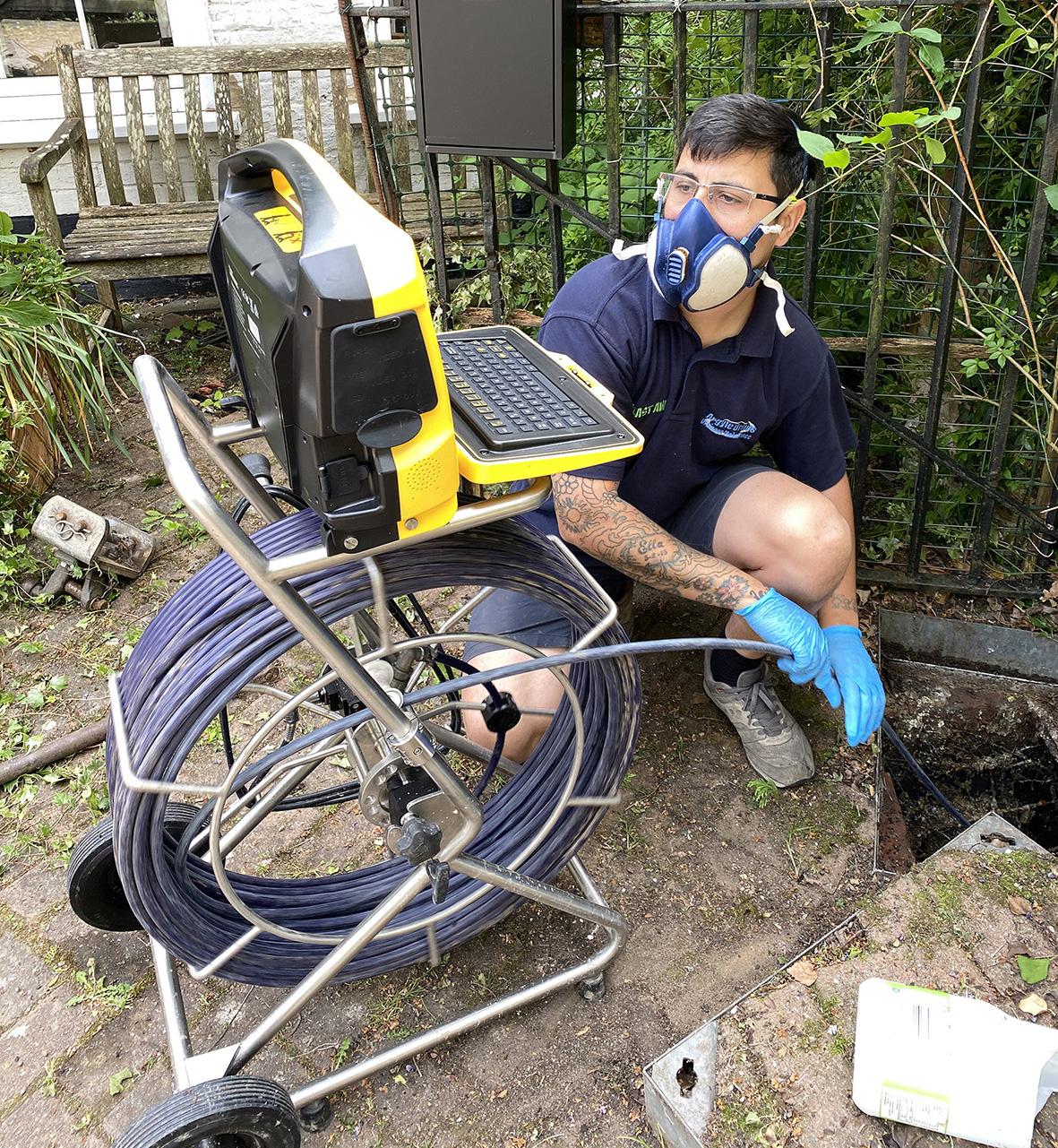 Using cctv to diagnose blocked drain